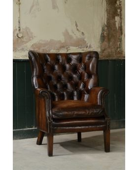 Tetrad Bradley Buttoned Leather Wing Chair