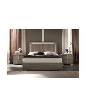 Tivoli 5FT Bed With Storage Drawer With LED Light Oak Grey