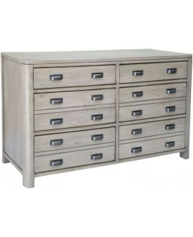 Classic Tempest Reclaimed Pine Six Drawer Wide Chest