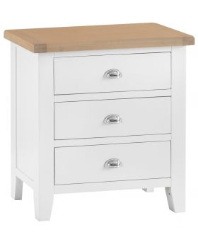 Kettle TT Bedroom White 3 Drawer Chest