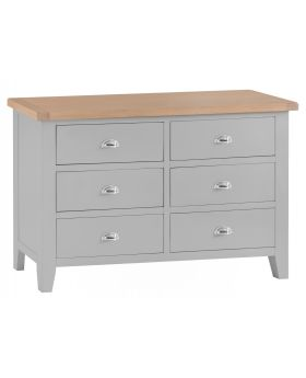 Kettle TT Bedroom Grey 6 Drawer Chest