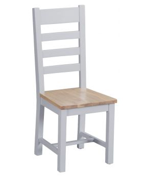 Kettle TT Dining Grey Ladder Back Wooden Chair