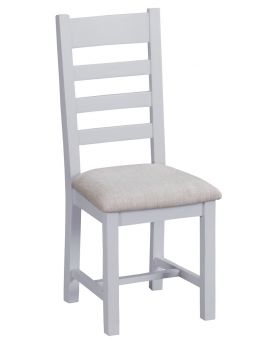 Kettle TT Dining Grey Ladder Back Fabric Chair