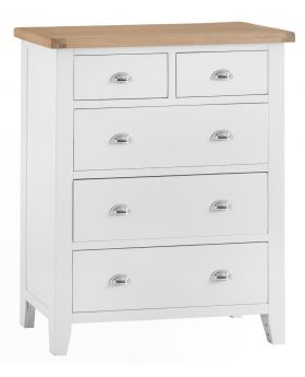 Kettle TT Bedroom White Jumbo 2 Over 3 Chest of Drawers
