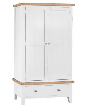 Kettle TT Bedroom White Large 2 Door Wardrobe