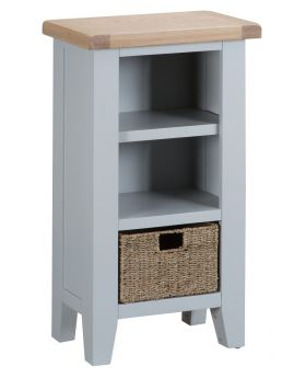 Kettle TT Dining Grey Small Narrow Bookcase