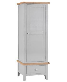 Kettle TT Bedroom Grey Single Wardrobe