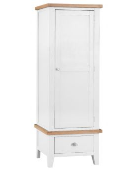 Kettle TT Bedroom White Single Wardrobe