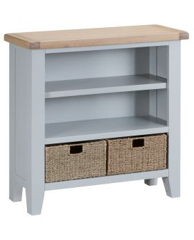 Kettle TT Dining Grey Small Wide Bookcase