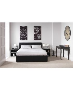 Serene Tuscany Faux Leather Ottoman Bed Frame