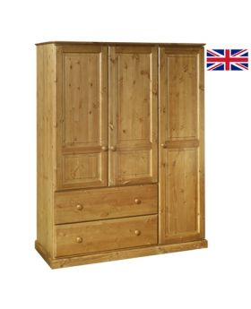 Devonshire Torridge 2 Drawer Deep Triple Wardrobe