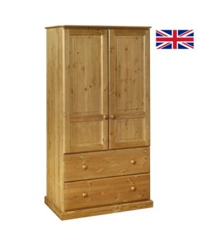 Devonshire Torridge 2 Drawer Deep Double Wardrobe