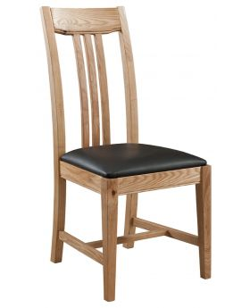 Classic Furniture Colorado Oak Dining Chair with PU Seat Pad