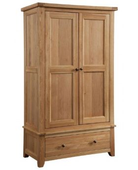 Classic Furniture Colorado Oak 2 Door 1 Drawer Wardrobe
