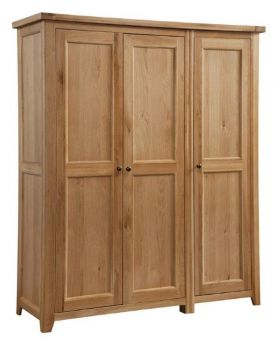Classic Furniture Colorado Oak 3 Door Wardrobe