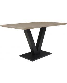 Classic Larson Rectangular Dining Table - Cappuccino High Gloss
