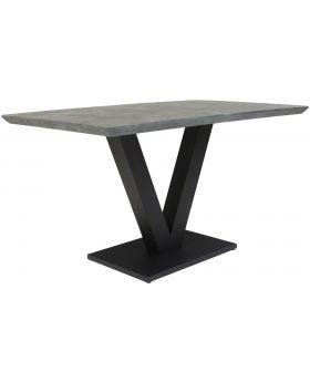 Classic Larson Rectangular Dining Table - Tetro Concrete Effect