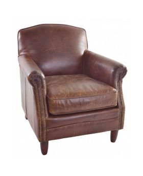 Ancient Mariner Vintage Leather Studded Front Chair