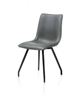 Habufa Daimon Dining Chair in Anthracite with Black Legs