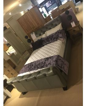 Premier No 1 Bedframe In Grey Leather