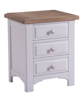 Classic Furniture Alders painted 3 Drawer Bedside