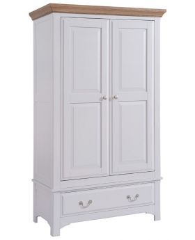Classic Georgia Painted 2 door 1 Drawer wardrobe