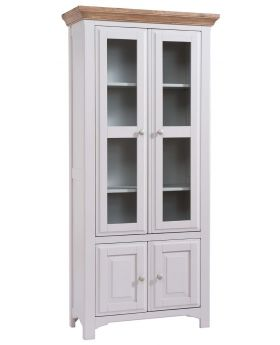 Classic Georgia Painted Display Cabinet
