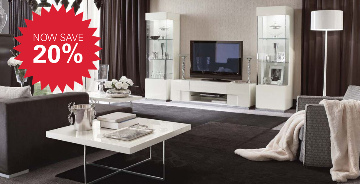ALF Canova White High Gloss Italian Furniture | Michael Ou0027Connor Furniture
