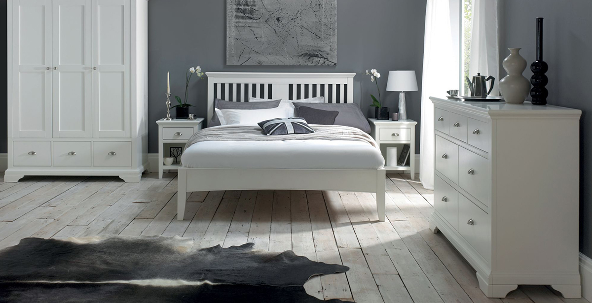 Bentley Designs Hampstead White Bedroom Furniture | Michael Ou0027Connor  Furniture